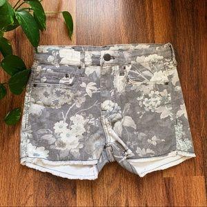 Cute H&M Floral Print Jean Shorts